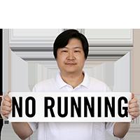 No Running Pool Marker