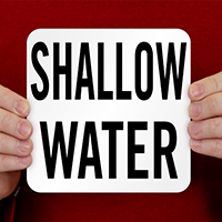Shallow Water Pool Depth Marker