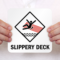 Slippery Deck Pool Marker