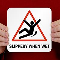 Slippery When Wet Pool Marker