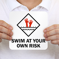 Swim At Your Own Risk Marker