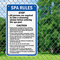 Spa Rules Sign for Arkansas and Oregon