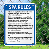 Alaska Spa Rules Sign