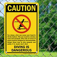 Caution Diving Is Dangerous Sign