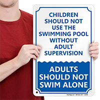 Children Swimming Pool Sign
