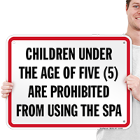 Children Prohibited From Using Spa Pennsylvania Sign