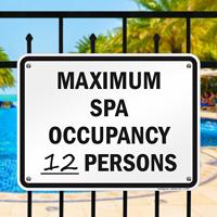 Pool Maximum Occupancy Sign for Colorado