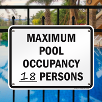 Pool Maximum Occupancy Sign for Colorado
