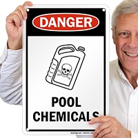 Danger Pool Chemicals Signs