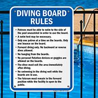 Georgia Diving Board Rules Sign