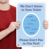 Dont Pee In Pool, Funny Pool Sign