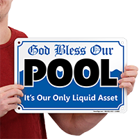 God Bless Our Pool Sign