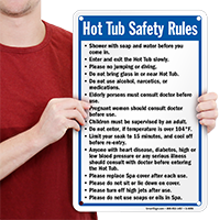 Hot Tub Rules Signs