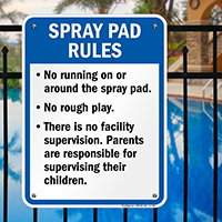 Spray Pad Rules Sign for Iowa