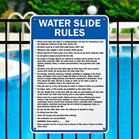 Water Slide Rules Sign for Iowa