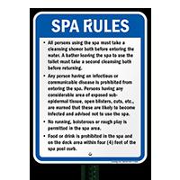Kansas Spa Rules Sign