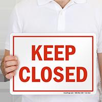 Keep Closed California Pool Sign
