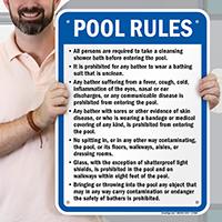 Pool Rules Sign for Massachusetts
