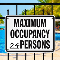 Spa Occupancy Signs