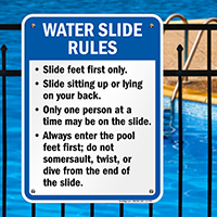 Water Slide Rules Sign for New Mexico
