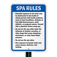 New Mexico Spa Rules Sign
