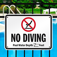No Diving Sign for New York