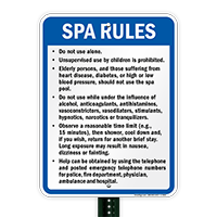 New York Spa Rules Sign