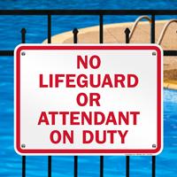 Oklahoma No Lifeguard On Duty Sign