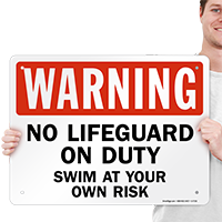 Maximum Occupancy Pool Rule Sign