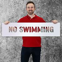 Swimming Pool Stencil