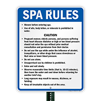 North Carolina Spa Rules Sign