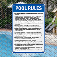 Pool Rules Sign for Ohio