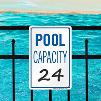 Pool Capacity Sign