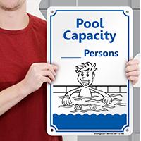 Pool Max Capacity Sign