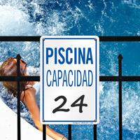 Piscina Capacidad Spanish Maximum Capacity Sign