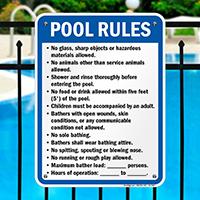 Georgia Pool Rules Sign