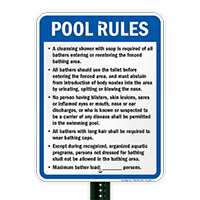 New Mexico Pool Rules Sign