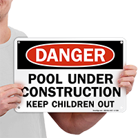 Pool Under Construction Sign