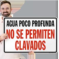 South Carolina Spanish No Diving Sign