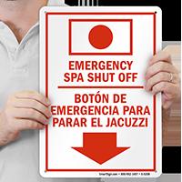 Emergency Spa Shut Off (Bilingual)