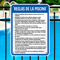 Spanish Pool Rules Sign