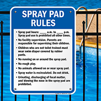 Spray Pad Rules Sign