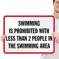 Swimming Prohibited Tennessee Pool Sign