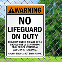 Warning No Lifeguard on Duty