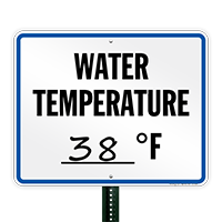Water Temperature (with write in spot) Wisconsin State Pool Sign