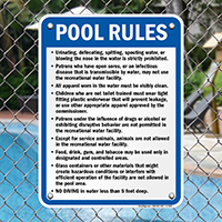 Pool Rules Sign for West Virginia