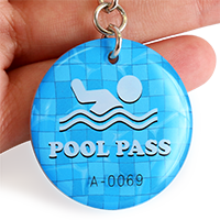 Epoxy Pool Pass Key Tags