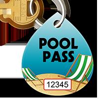 Pool Pass In Water Drop Shape, Beach Chair