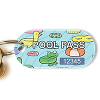 Pool Pass Life Ring, Flip Flops Tag