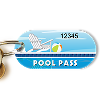 Pool Pass In Oblong Circle Shape, Pool Chair
